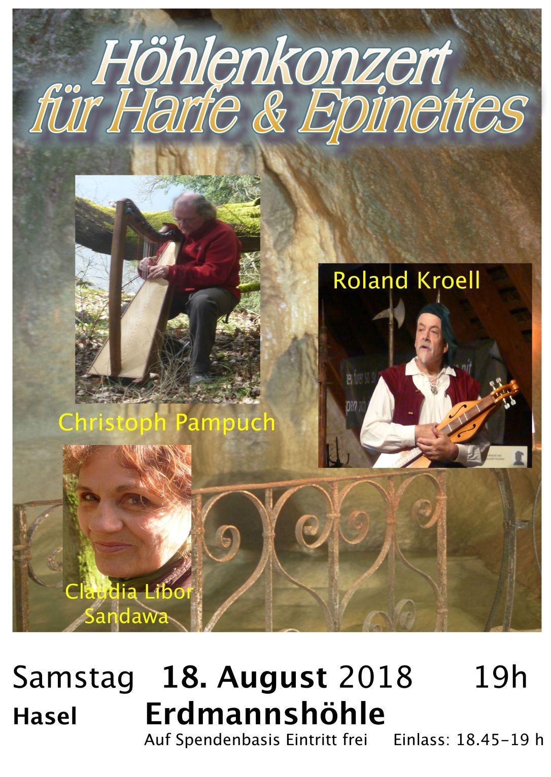 Höhlen Konzert Harfe & Epinette