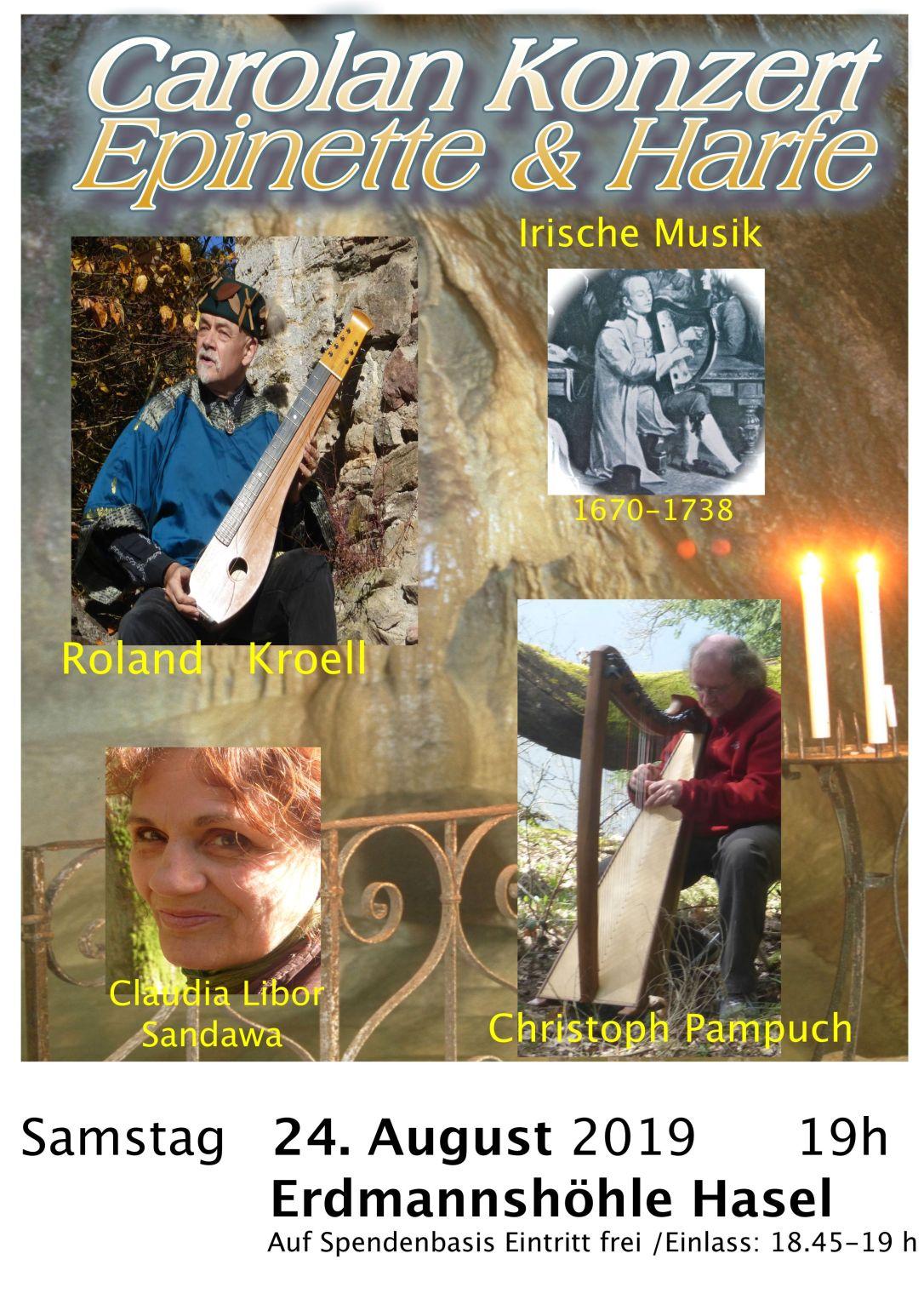 Höhlen Konzert Harfe & Epinette 2019