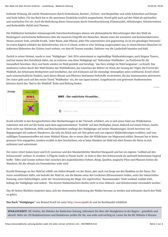 2 Den Wald mit allen Sinnen erfahren - Laufenburg - Badische Zeitung