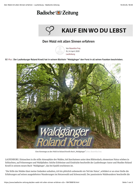 Den Wald mit allen Sinnen erfahren - Laufenburg - Badische Zeitung