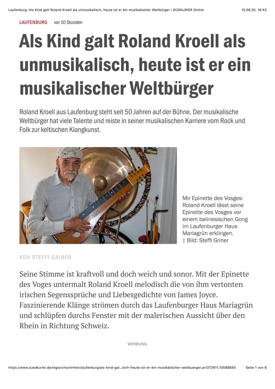 Laufenburg: - Als Kind galt Roland Kroell als unmusikalisch, heute ist er ein musikalischer Weltbürger | SÜDKURIER Online